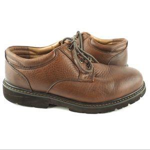 Dockers men's brown leather lace is shoe 10W wide